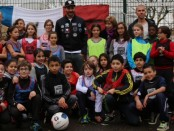 Benzema école Terraillon Bron (photo FFF)
