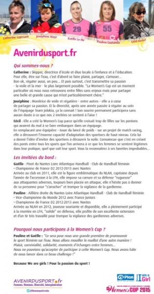 Equipage avenirdusport women cup mars 2015