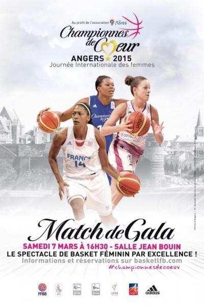 Affiche FFBB LFB Championnes de coeur basket