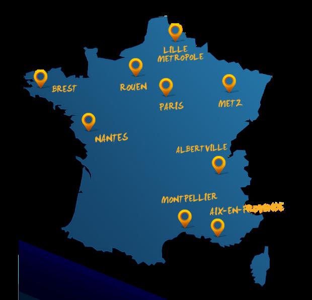 IHF Handball 2017 carte france villes