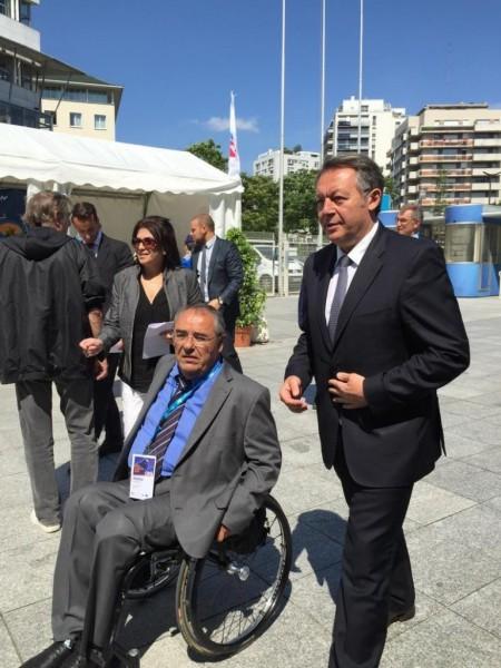 (Photo FFH) Braillard avec Gerard Masson president FFH