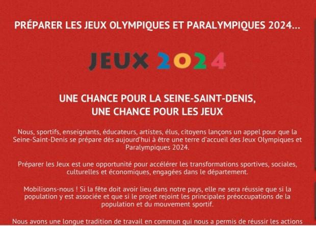 JO chance pour la Seine Saint Denis