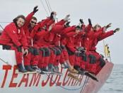 Team Jolokia de profil sur bateau