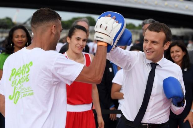 EnModeJO Macron boxe