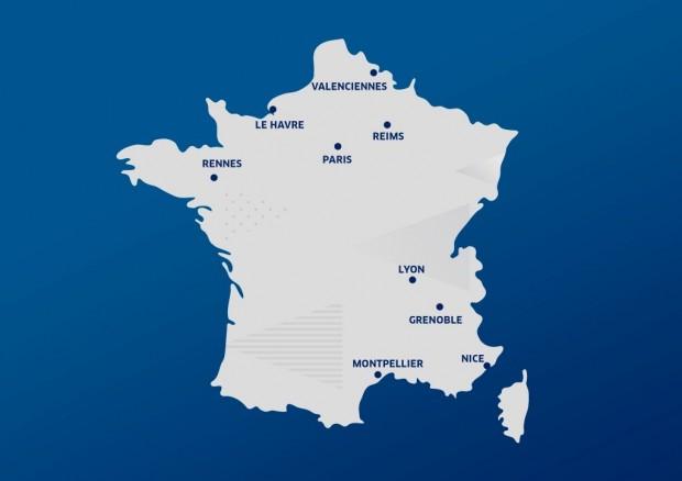 France carte villes CM2019
