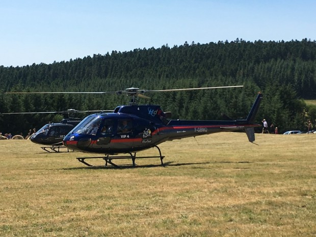 TDF helicoptere au sol