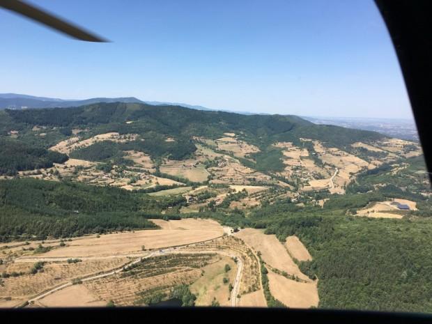 TDF vue du ciel helicoptere