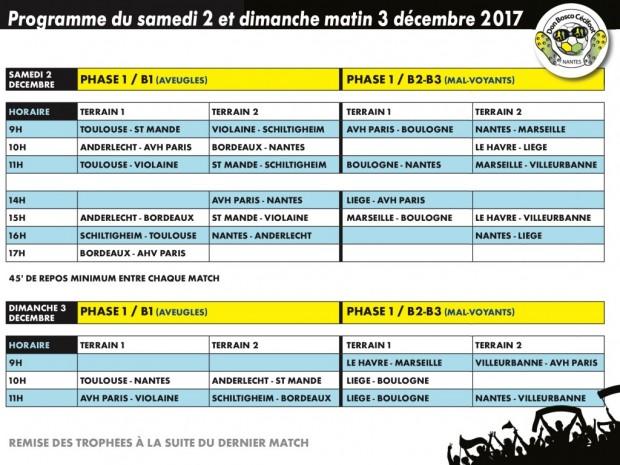 Cecifoot Nantes 2017 calendrier
